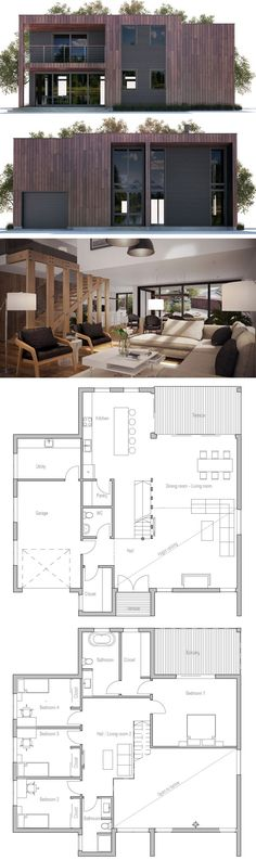 Modern Architecture, Modern Interior Design rnrnSource by sabinewdh Modern Floor Plans, Contemporary House Plans, Modern House Plans, Modern House Design, Modern Interior Design, Modern Architecture House, Interior Architecture, Computer Architecture, Minimalist Architecture