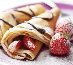 Traditional French Crepes Batter Recipe - can add Nutella w/ Strawberries and/or Bananas
