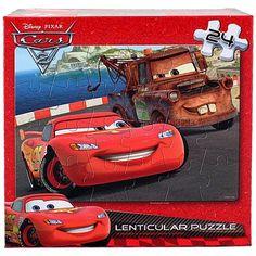 Disney Pixar Cars 2 Lenticular Puzzle [24 Pieces - Lightning McQueen and Mater]