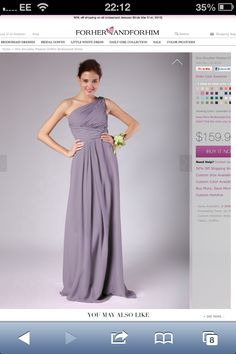 Lilac bridesmaid dress, I like this shade the best