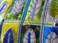 Angie Hughes is an inspirational teacher as well as a grest textile artist working with colours that always uplift you