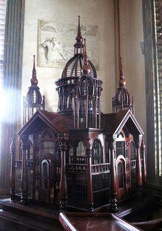 Antique birdcage by blackdenimgumby, via Flickr