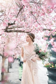 Gorgeous cherry blossom photo shoot by Alina Lea and The WOW Closet. Debut Ideas, Photo Poses, Photo Shoots, Peach Blossoms, Instagram Worthy, Photoshoot Inspiration, Wow Products, Photography Women, Beautiful Bride