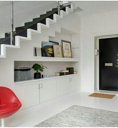Understairs Storage unit Under Staircase unit design Under Staircase Home Stairs Design, Home Interior Design, House Design, Stairs In Living Room, House Stairs, Space Under Stairs, Stairs And Doors, Staircase Storage, Stair Decor
