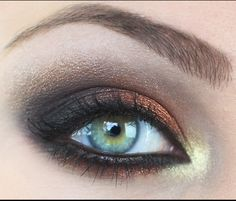 copper, gold and dark brown smoky