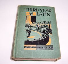 Antique Third Year Latin Text Book by Kelsey by SierrasTreasure, $10.00