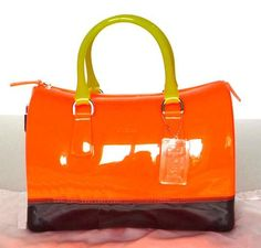godispåsar Furla, Candy Bags, Bago, Orange, Yellow, Coffee, Kaffee, Cup Of Coffee, Gold