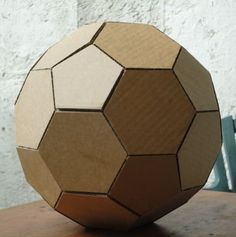 How to make a geodesic dome's scale model with cardboard,