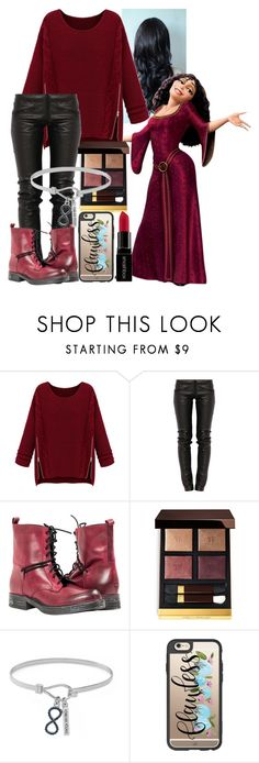 """""""Gothel - CASUAL"""" by blackest-raven ❤ liked on Polyvore featuring WithChic, Preen, Tom Ford, BCBGeneration, Casetify and Smashbox"""