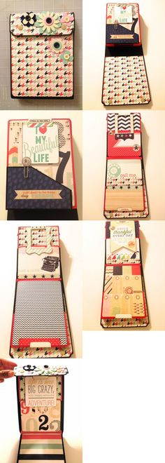 An adorable quick little mini album designed by Kathy Orta - http://shop.paperphenomenon.com/Insta-Brag-Book-EKC11Jun-Bonus-Project-TUT084.htm