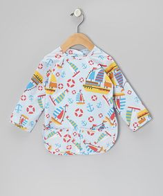 Sale $8.99 Reg. $20.00 ~Blue Boats Long-Sleeve Bib - Infant, Toddler & Boys & Girls ~ many more choices