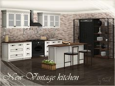 New Vintage kitchen – part 1 by Gosik - Sims 3 Downloads CC Caboodle