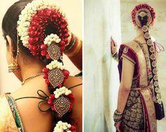 South Indian bride. Temple jewelry.silk kanchipuram sari.Braid with fresh flowers. Tamil bride. Telugu bride. Kannada bride. Hindu bride. Malayalee bride.