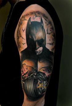 Batman-tattoo-by-Benjamin-Laukis   Tattoo designs