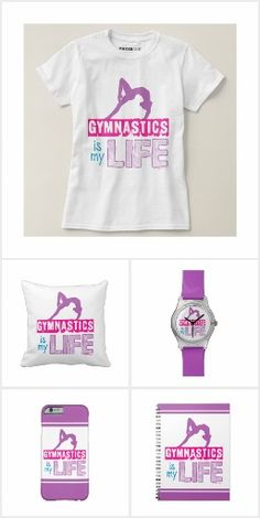 Gymnastics is my Life t-shirts, iphone cases, throw pillows, fleece blankets, and more!  by Golly Girls