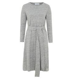 Grey Cotton Blend Belted Midi - £34.90 : Inayah, Islamic Clothing & Fashion, Abayas, Jilbabs, Hijabs, Jalabiyas & Hijab Pins