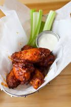 Made these crockpot bbq wings for the Final Four game yesterday.. Even the my city didn't win, my state did and they will bring the National Championship torphy home.. Fix these fall off the bone chicken wings for the game Monday night.. Recipe link:  http://southernfood.about.com/od/chickenwings/r/bl104c18.htm