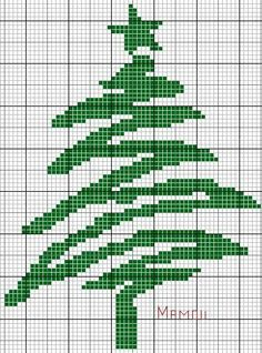 Free Christmas Tree Cross Stitch Patterns – Part Three – Embroidery and Arts Creatives Cross Stitch Christmas Ornaments, Xmas Cross Stitch, Cross Stitch Needles, Christmas Embroidery, Christmas Cross, Cross Stitching, Cross Stitch Embroidery, Modern Christmas, Cross Stitch Designs