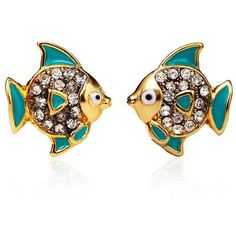 Tropical Fish Studs ($34) ❤ liked on Polyvore featuring jewelry, earrings, accessories, women, stud earrings, sparkle jewelry, juicy couture jewellery, juicy couture earrings and sparkly earrings