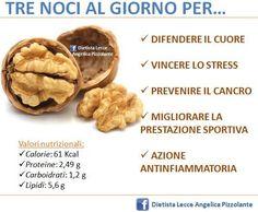 Tre #noci al giorno per... #salute #dieta #nutrizione #mangiaresano