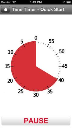 App version of Time Timer that can be used on iPad, iPhone, or iPod Autism Apps, Adhd And Autism, Timer App, Effective Meetings, Time Timer, Executive Functioning, 49er, Pause, School Psychology