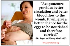 Another article on ACUPUNCTURE AND FERTILITY! I just gave a labour induction to one of my fertility patients yesterday! Try Acupuncture!