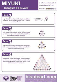 Tutorial: Triángulo de Miyuki. Punto Peyote | El Blog de BisuteART