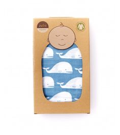 Organic Blanket Whale ~ pre-washed; generously-sized, and even the packaging is so precious! $22.00 #Googaro