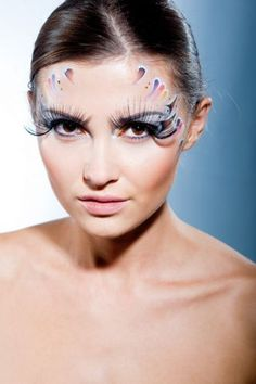 Eyelash Extension Carnival with skin make-up