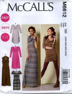 McCall's 6612 knit dress tunic