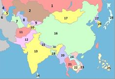 Asia Map Quiz Game   Online Quiz   Quizzes.cc