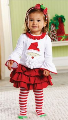 Christmas Outfit by Mud Pie for little girls www. Toddler Christmas Outfit, Girls Christmas Outfits, Baby Girl Christmas, Holiday Outfits, Christmas Christmas, Christmas Dresses, Holiday Dresses, Christmas Ideas, Xmas