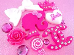 Barbie girl resin flatback deco kit cabochon DIY by blingit2, $12.50