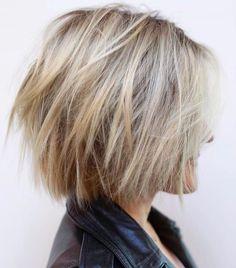 Short Blonde Shag Haircut