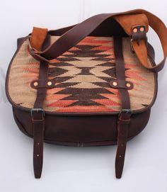 c9e66c8162 RALPH LAUREN RRL indian Leather messenger shoulder Bag NEW