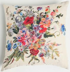 Urban Outfitters Floral Scarf Print Pillow