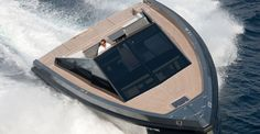Wally 55 is another beauty from our favorite shipyard, Wally Yachts. Wally has an unconventional approach to yacht and powerboat design, and the Wally 55 is no exception. With a distinctive military look, Wally 55 is the ultimate open sports cruiser, Yacht Design, Boat Design, Men Design, Speed Boats, Power Boats, Yacht Luxury, Luxury Boats, Wally Yachts, Yachting Club