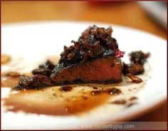 Cherry Red Wine Sauce (use for salad dressing w/ goat cheese)
