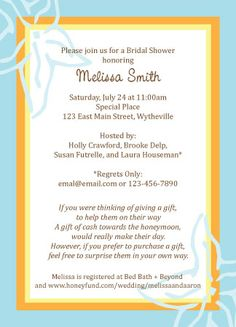 Honeymoon Bridal Shower Invitation Pinterest Showers Fund And