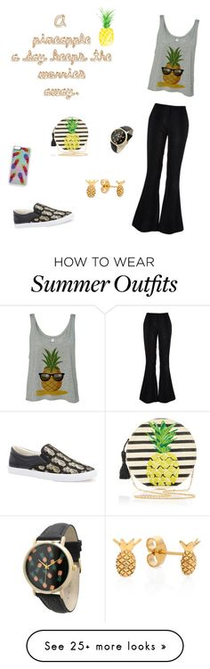 """Pineapples"" by greystreaks on Polyvore featuring River Island, Kayu, BucketFeet, Olivia Pratt, Zero Gravity and Lee Renee"