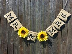 Customizable Sunflower Banner- Bridal Shower- Wedding Decorations- Burlap- Rustic- Happy Birthday- Save The Date- Fall - Wedding Maroon Wedding, Rose Wedding, Fall Wedding, Diy Wedding, Rustic Wedding, Dream Wedding, Wedding Flowers, Trendy Wedding, Wedding Events