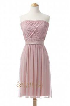 Discount A-line Pearlpink Short Bridesmaid Dresses AM370
