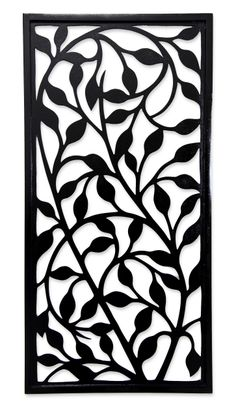 """Midnight Foliage,"" Handcrafted Wood Wall #Panel."