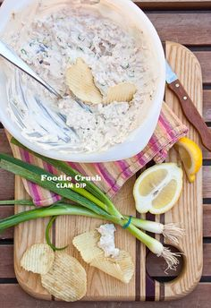 YUMMY!!!  I love clam dip and access to fresh clams.  Mad for Dips and Creamy Clam Dip by @Foodie Crush Heidi Larsen