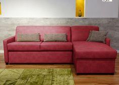 Bettsofa Nalani mit Longchair Komfort Schlafsofa Rot 21404. Buy now at https://www.moebel-wohnbar.de/bettsofa-nalani-mit-longchair-komfort-schlafsofa-rot-21404