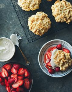 THESE! Strawberry Shortcakes I am taking off all other recipes for Strawberry Shortcakes.  These are crazy good!