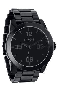 Nixon 'The Corporal' Bracelet Watch
