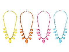Bright Faceted Bead Necklace  by ZAD   $25.00