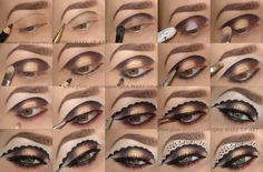Masquerade Eyes Tutorial with product list with @nalbantova   >> Visit site for details.  #bbloggers #MUA #youtubers #howto #pictorial #makeup #tutorial #masquerade #party #editorial #makeupisart