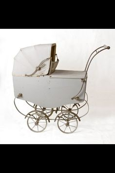The vintage doll's pram (Vintage Wheels) and the vintage baby shoes (Vintage Walk). The baby shoes is al.